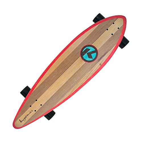 Kryptonics Longboard Through Skateboard completo con cuscinetti a sfera ABEC 5, Skateboarding, Longboard 37 Zoll Drop-Through Skateboarding Skaten Outdoor Board-Kaiula, Kaiula