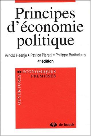 Principes d'économie politique. 4ème édition