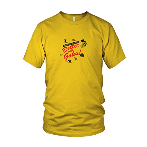 DBZ: Better call Goku - Herren T-Shirt, Größe: S, Farbe: gelb