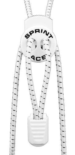 Sprint-Laces - elastische Schuhbänder für Running, Triathlon, Trekking, Fitness, Freizeit, etc. Farbe Snow White