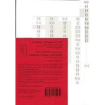 Schönfelder OHNE §§ Griffregister Nr. 1132, 10. Aufl. 2017: Gesetzesnamen OHNE §§, 153 mit sämtlichen Gesetzesabkürzungen (BGB, StGB, ZPO) bedruckt für alle Gesetze der Sammlung Schönfelder