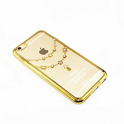 iPhone 6S Coque Silicone,iPhone 6S Coque Bling,iPhone 6S Coque en Silicone Placage Bling Diamant Coque Clair,EMAXELERS iPhone 6 / 6S Silicone Case Silver Slim Soft Gel Cover with Diamond,iPhone 6S Bli C TPU 8