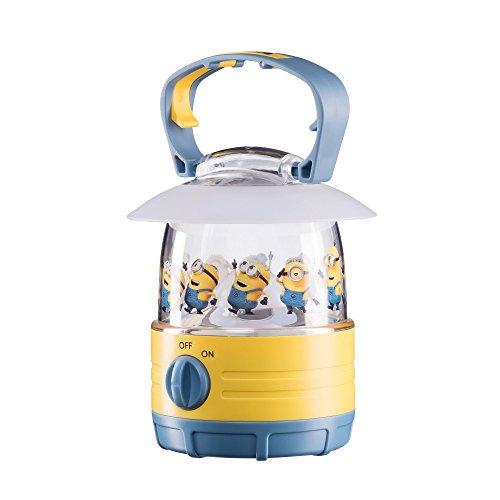 Varta campeggio giocattolo minions per bambini, 1led bianco freddo, pulsante on/off, gancio montato in cima alla lanterna, light yellow, 10,8 x 10,8 x 17,1 cm