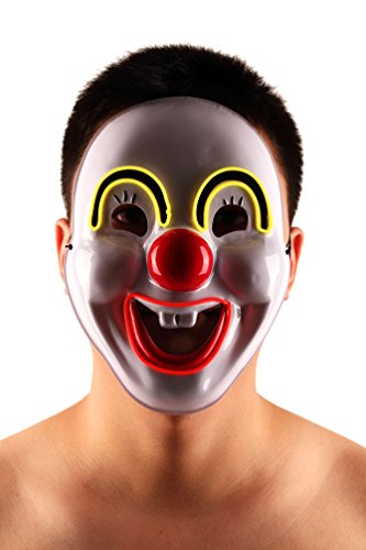 Brinny EL Wire Drahtmaske Leuchten Maske LED Leucht Leuchtmaske Make Up Partymaske mit Batterie Box Kostüme Mask Weihnachten Tanzen Party Nacht Pub Bar Klub (Kostüm Transformer Cooles)
