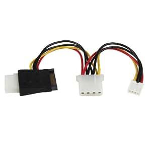 StarTech.com LP4SATAFMD Câble adaptateur d'alimentation LP4 vers SATA avec alimentation pour lecteur de disquette