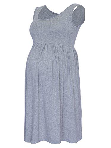 BlackCherry Damen A-Linie Kleid schwarz schwarz 34 Gr. Small, grau (Empire Nightgown)