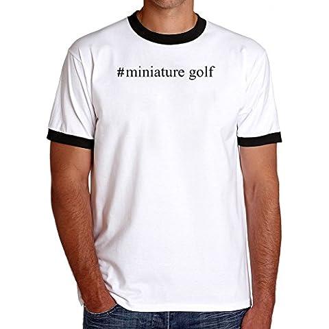 Maglietta Ringer #Miniature Golf Hashtag