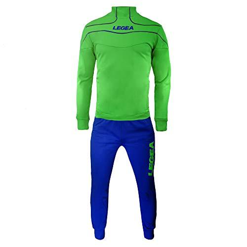 LEGEA Herren Trainingsanzüge Trainingsjacke Sportanzug Running Fitness Laufen Training Nigeria Grün Blau (M)