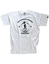 Zum Wandern Geboren zur arbeit gezwungen T-Shirt