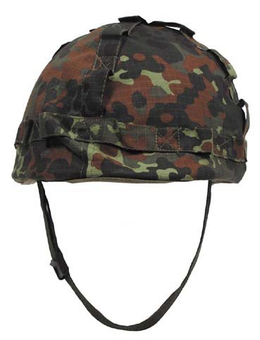 US Helm Kunststoff, mit Stoffbezug, flecktarn