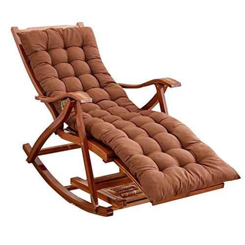 LHNLY-Liegen Relaxstuhl Garten Outdoor Schaukelstuhl Balkon Wohnzimmer Klappbar Relaxsessel Schwingstuhl mit Auflage Armlehne für Erwachsene Kinder, Max.150kg