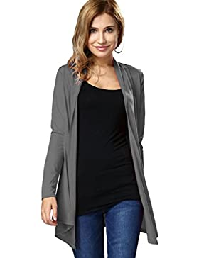 Choose Women Clásico de manga larga Abierto Front Cardigan