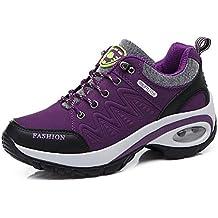FHTDW Zapatos Para Mujer Al Aire Libre: Zapatos Para Caminar De Gamuza, Zapatos De