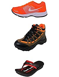 Jabra Perfect Combo Pack Of 2 Shoes- Sneakers And Loafers & Slippers For Men In Various Sizes - B06XVJ3FSR