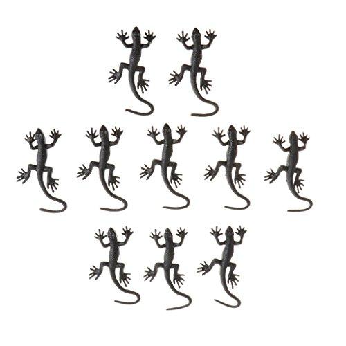Homyl 10er/Set Mini Kunststoff Tiere Plastik Maus Gecko Spielzeug für Allerheiligen Halloween Party - Gecko - 2