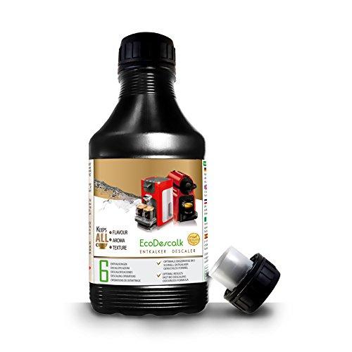 EcoDescalk, 500 ml. Decalcificante per tutte le Macchine da Caffè. Tutte le Marche (Nespresso, Krups, DeLonghi, Tassimo...) 6 Decalcificazioni. Prodotto CE.
