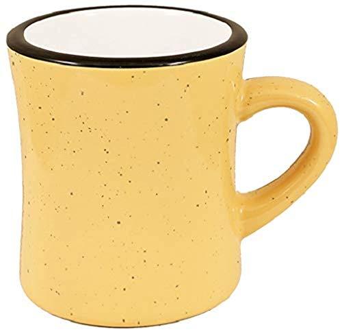 Iti Keramik Diner Kaffee Tassen, mit Pfanne Schaber, 10Unze 10 ounce Campfire Yellow