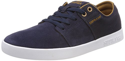 Supra Stacks II, Sneakers Basses Homme Bleu (Navy/tan-white)