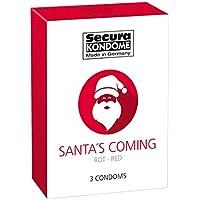 Santa´s Coming 3er, Kondome m. Erdbeer / Condoms w. Strawberry, 52mm preisvergleich bei billige-tabletten.eu