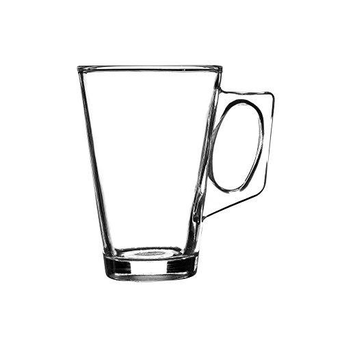 Ravenhead Essentials Verres à Latte, Transparente, 24 cl, Lot de 4