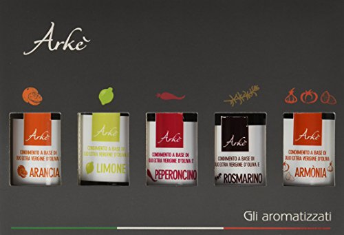 Arkè The Flavoured Olive Oils GIFT BOX 5 bottles x 100ml
