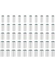 SAVITA 50 Pz Puntali da Biliardo Cue Billiard Accessori Slip-on Suggerimenti Punte di Ricambio con 9 mm, 10 mm, 11 mm, 12 mm, 13 mm
