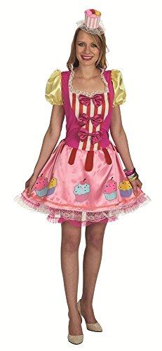 Cupcake Kostüm für Damen Gr. 32 (Erwachsene Cupcake Kostüme)