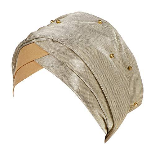 Moonuy Frauen ausgestattet hut frauen attraktiv ibeading indien hut muslim rüschen krebs chemo beanie turban charme wickelschal cap