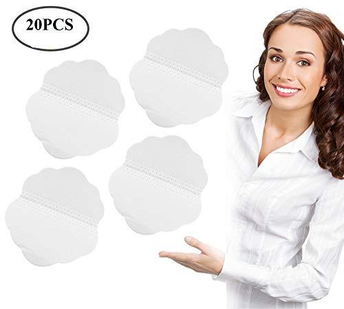 Sudor absorción, almohadillas de sudor de la axila para los hombres y mujeres, protectores desechables plegables de absorción de sudor (20 pcs)