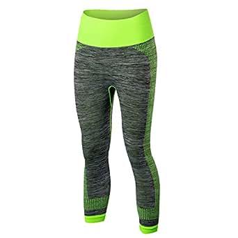 L K-II - Legging de Sport Femme - Capri Coupe Genoux Amincissant - Yoga  Fitness 894f062feeb