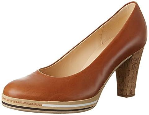 Gabor Shoes Damen Fashion Pumps, Braun (Cognac Abs.Kork 24), 39 EU