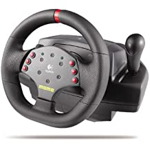 Logitech MOMO Racing Force Feedback Wheel - Volante/mando (Rueda + Pedales, Con
