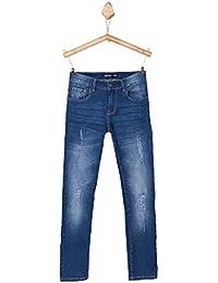 Jeans TIFFOSI coupe slim - pour garçon enfant et ado - bleu clair délavé - coton stretch - du 8 au 14 ans