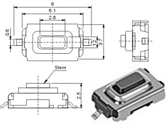 10 st ck smd subminiatur taster f r auto ffb und. Black Bedroom Furniture Sets. Home Design Ideas