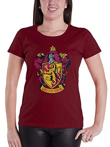 HARRY POTTER T Shirt Gryffindor Crest Nue offiziell Damen Skinny Fit