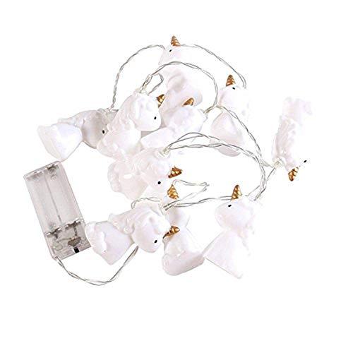 Mystery&Melody Schöne Einhorn LED String Licht LED Einhorn Licht Indoor Outdoor Decor Lichterketten für Weihnachten Halloween Party Dekoration ()