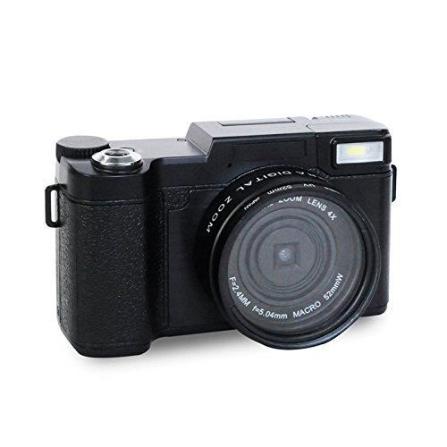 MLL Digitale HD Kamera - Home Digitale Videokamera - Flip Screen Kamera - Selfie SLR Kamera DV,Schwarz,A (Slr-kamera Flip Screen)