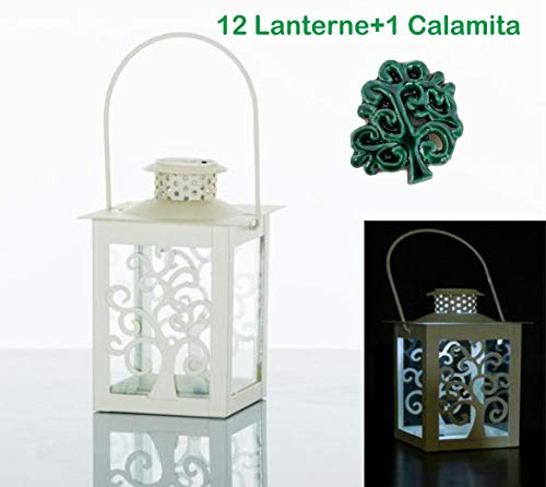 Bombsindy 12 pezzi lanterna albero della vita luce led originale bomboniera battesimo matrimonio comunione cresima