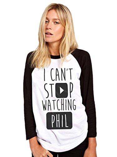 HotScamp Stop Watching Phil - Vlogger Star - Womens Baseball Top