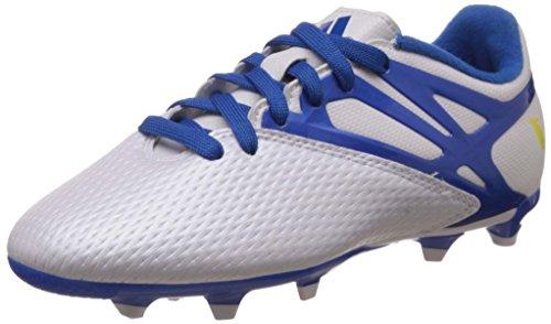 adidas Performance Messi15.3 FG/AG, Jungen Fußballschuhe, Weiß (FTWR White/Prime Blue S12/Core Black), 35.5 EU (3 Kinder UK)