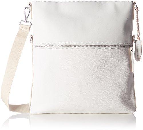 ESPRIT Damen 067ea1o005 Schultertasche, Weiß (White), 3 x 37 x 33 cm (Schuhe Weiße Iii)