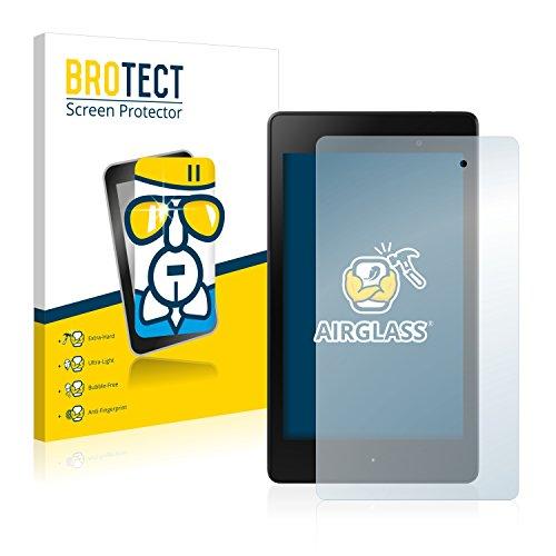 BROTECT Panzerglas Schutzfolie für Google Nexus 7 Tablet 2 (2013) - Flexibles Airglass, 9H Härte, Anti-Kratzer