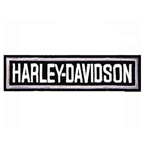 Parche bordado para motocicleta/motero Harley Davidson pequeño rectangular