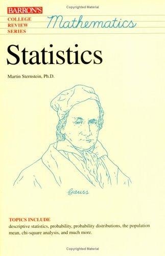 Statistics (College Review Series. Mathematics) by Martin Sternstein Ph.D. (1996-08-01)