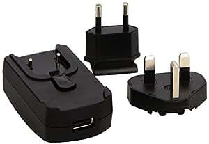 Garmin International AC Adapter USB Charger Plug Power Supply for Approach, Forerunner, Vivofit, Edge, Vivoactive, Vivosmart, Nuvi and Drive Ranges (UK 3 Pin & European 2 Pin Attachments)