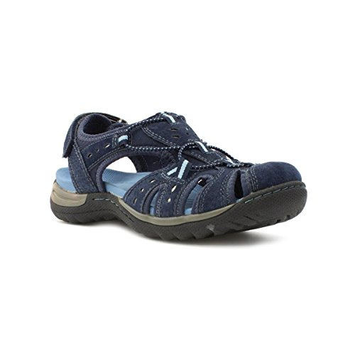 Earth Spirit Damen Sandale aus Leder in Blau Blau