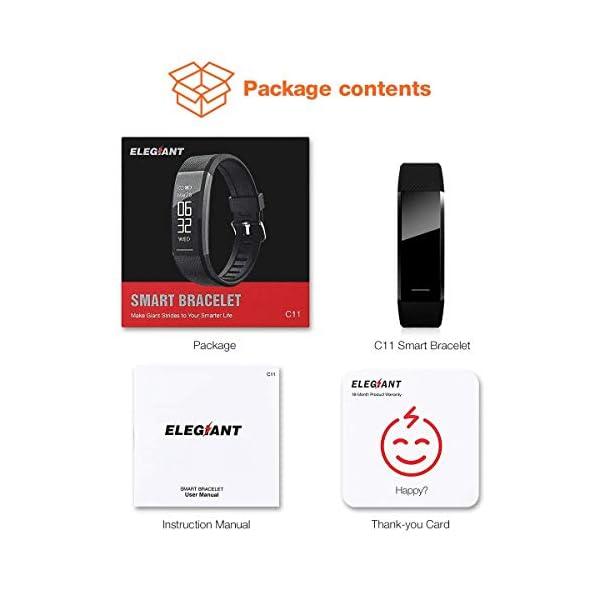 ELEGIANT Pulsera de Actividad Inteligente Reloj Deportivo IP67 para Hombre Mujer con GPS Monitor de Sueño Podómetro… 9