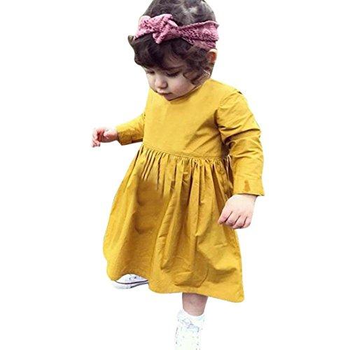 Kleinkind Baby Mädchen Kleid Kleider Lange Hülse Party Hochzeit Prinzessin Rock_Hirolan (80, (Mädchen Kostüm Zwei Face)
