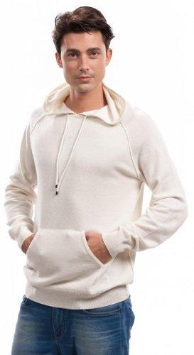 Kapuzenpullover Hoodie - 100% Kaschmir - von Citizen Cashmere Weiß