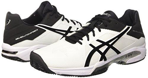 Asics Gel-Solution Speed 3 Clay Tennisschuh Herren weiß / schwarz